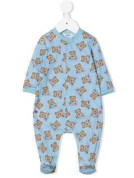 Moschino Kids teddy bear pajamas - Blue