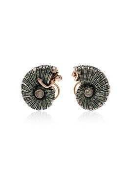 Bibi Van Der Velden Poseidon's Getaway shell earrings - Metallic