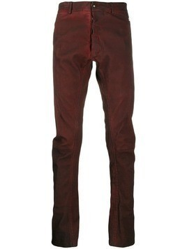 Isaac Sellam Experience Hedoniste slim-fit trousers - Red