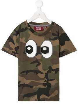 Mostly Heard Rarely Seen 8-Bit Eyez print camouflage T-shirt - Green