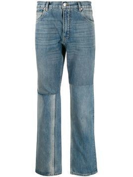 Martine Rose panelled straight-leg jeans - Blue