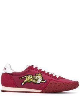 Kenzo tiger appliqué low-top sneakers - PINK