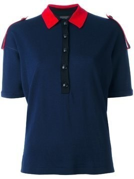 Burberry colour block knitted polo - Blue