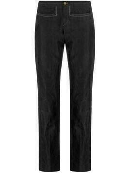 Gucci Pre-Owned 1990s cropped straight-leg trousers - Grey