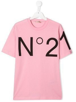 Nº21 Kids graphic logo T-shirt - Pink