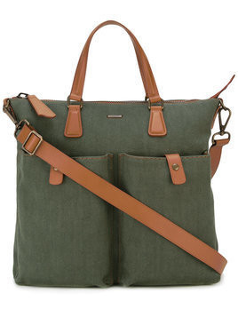 Zanellato - contrast shoulder bag - Herren - Leather/Canvas - One Size - Green