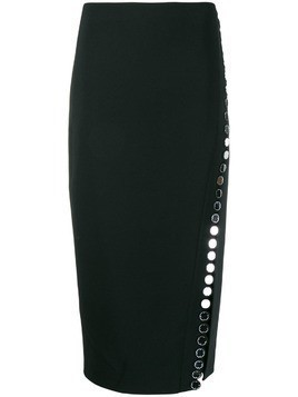 David Koma embellished pencil skirt - Black