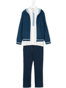 Bimbalo zipped cardigan suit - Blue