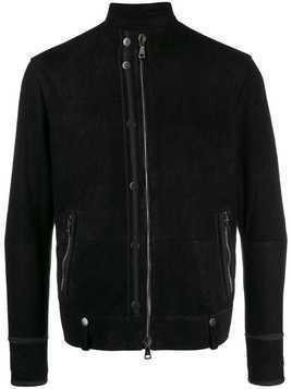 John Varvatos faux leather bomber jacket - Black
