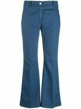 Incotex cropped flared-leg trousers - Blue