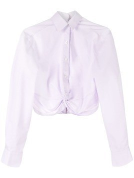 Dion Lee twist placket shirt - PURPLE