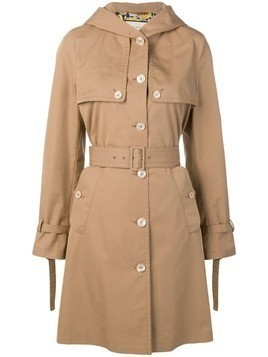 Gucci hooded trench coat - Brown