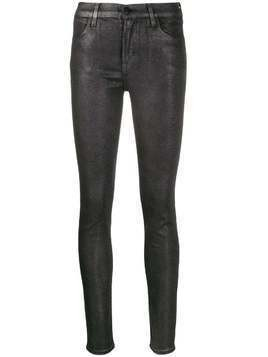 J Brand faux-leather skinny trousers - SILVER