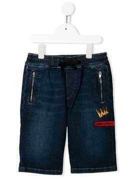 Dolce & Gabbana Kids Millenials denim shorts - Blue