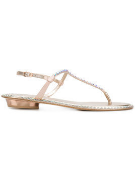 Le Silla sequin embellished sandals - Neutrals