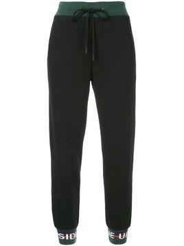 The Upside logo banded joggers - Black