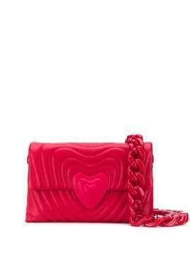 Escada heart quilted shoulder bag - Red
