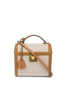 Mark Cross Sara box clutch - Brown