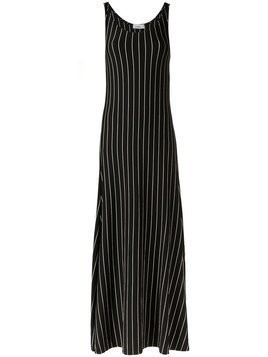 Amir Slama striped long dress - Black