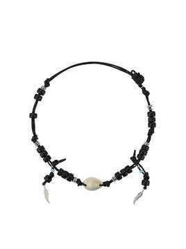 Giacobino beaded shell necklace - Black
