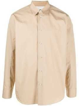Jil Sander long sleeved cotton shirt - Neutrals