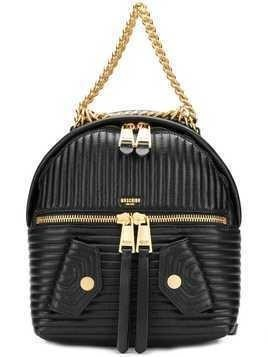 Moschino quilted chain-trim backpack - Black