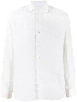 Corneliani long-sleeve linen shirt - White