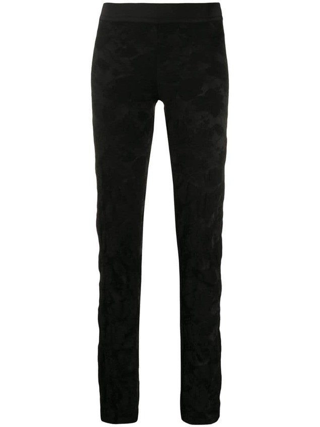 Ann Demeulemeester floral jacquard skinny trousers - Black