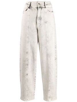 Stella McCartney bleached tapered jeans - White