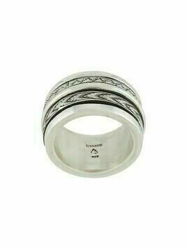 Henson engraved spinner ring - Silver