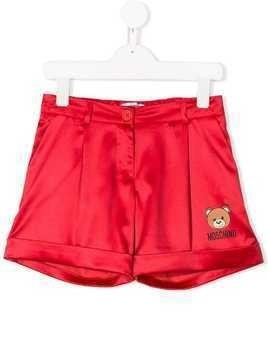 Moschino Kids logo patch tailored shorts