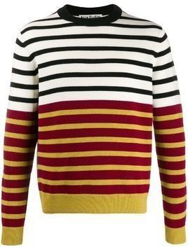Acne Studios x Jacob Dahlgren colour-block striped jumper - Red