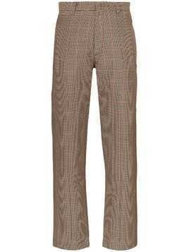 Delada check straight-leg trousers - Brown
