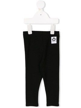 Mini Rodini logo patch leggings - Black