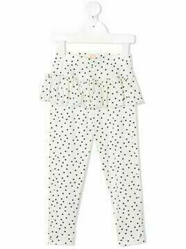 WAUW CAPOW by BANGBANG Betty ruffle leggings - White