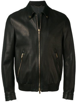 Ajmone classic zipped jacket - Black