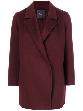 Theory concealed front coat - Red