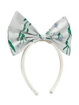 Hucklebones London Giant Bow floral-print hairband - White
