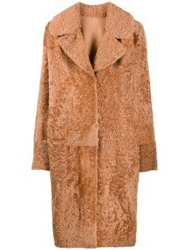 Drome shearling midi coat - NEUTRALS