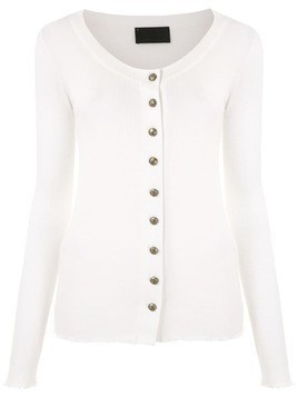 Andrea Bogosian knit ribbed cardigan - White