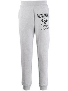 Moschino question logo track pants - Grey