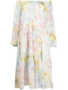 Lala Berlin Dorian rainbow-pattern dress - White