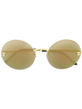 Cartier Panther round framed sunglasses - Metallic