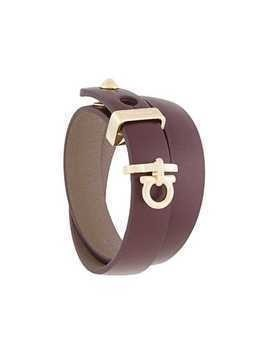 Salvatore Ferragamo Gancini wrap bracelet - Brown