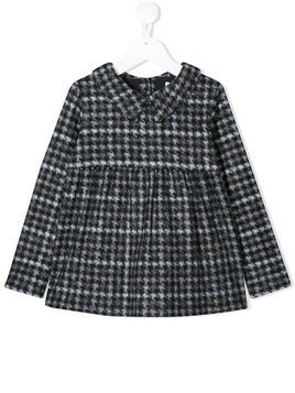 Douuod Kids houndstooth print blouse - Grey