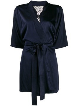 Fleur Of England Midnight short robe - Blue