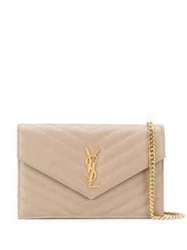 Saint Laurent envelope cross body bag - Neutrals