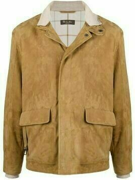 Loro Piana single-breasted suede jacket - Neutrals