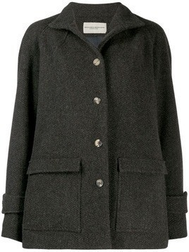 Holland & Holland oversized single-breasted coat - Brown