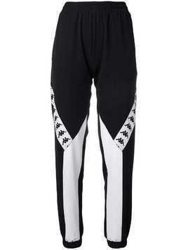 Kappa logo tape track pants - Black